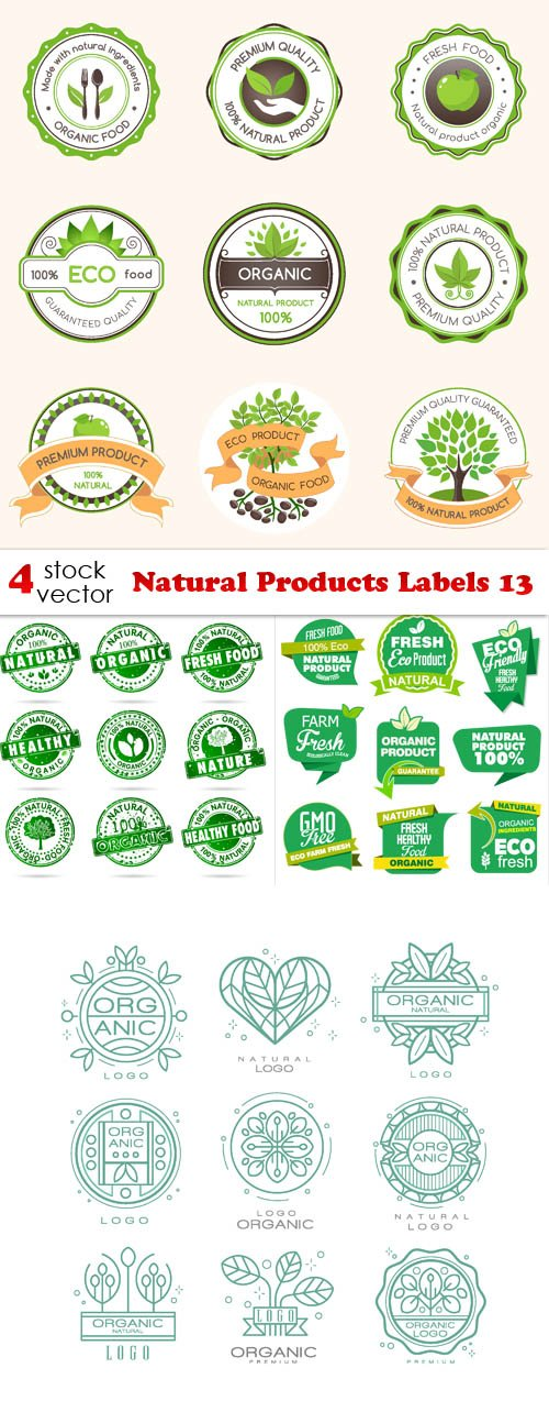 Vectors - Natural Products Labels 13