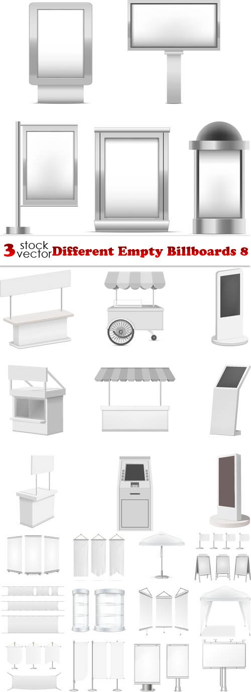 Vectors - Different Empty Billboards 8