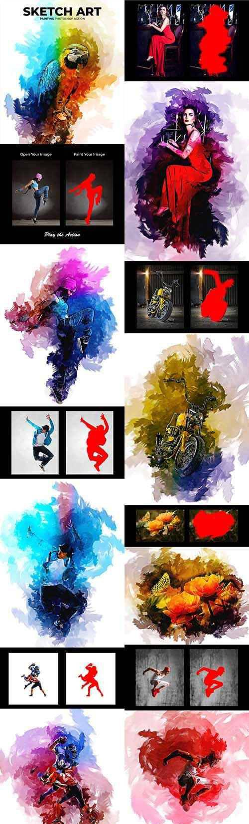 Sketch Art Painting Photoshop Action 22437485