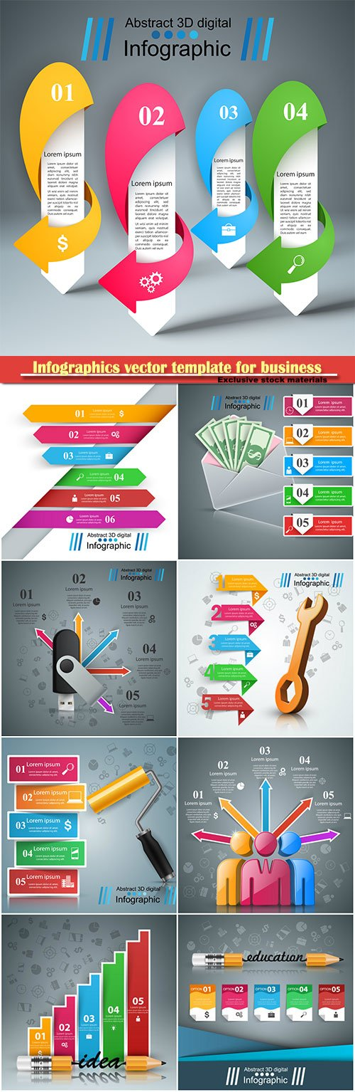 Infographics vector template for business presentations or information banner # 100