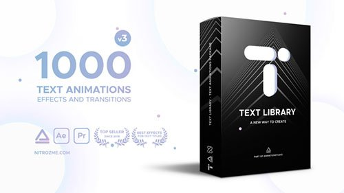 Text Library - Handy Text Animations V3 - Project for After Effects (Videohive)