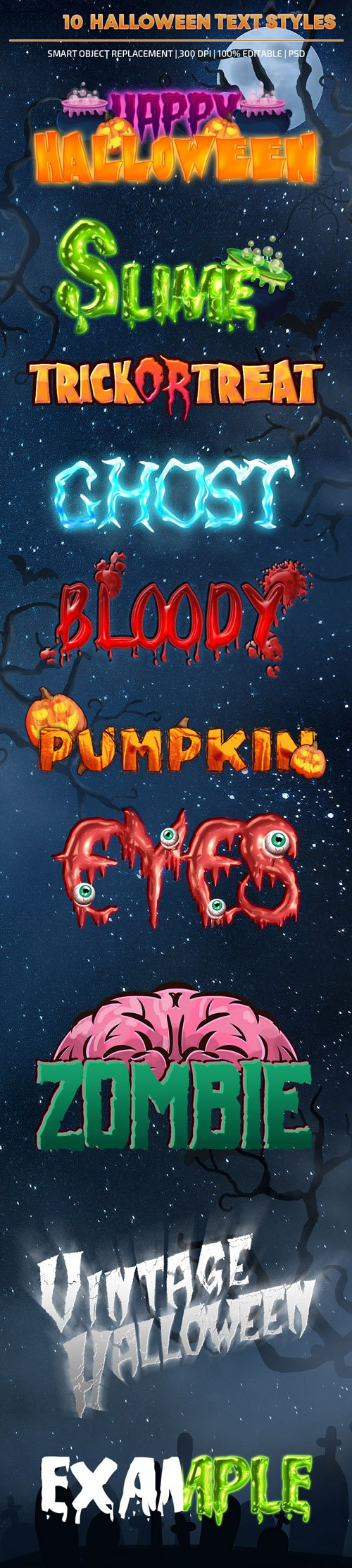 10 Halloween Text Styles for Photoshop