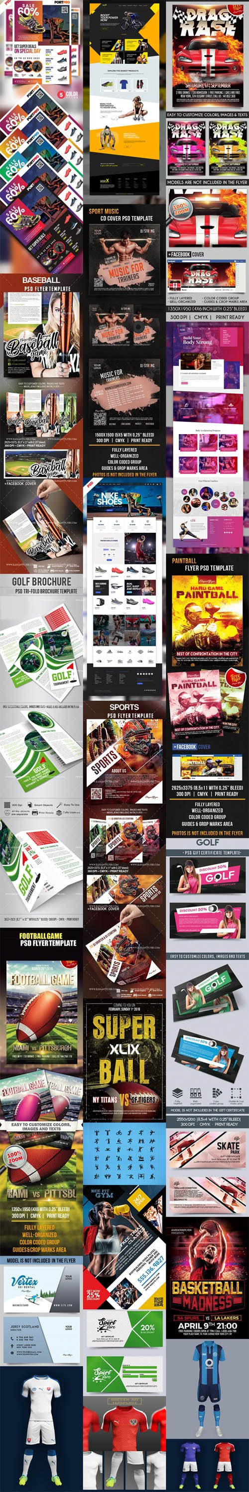 Different & Exclusive PSD Templates for Sport