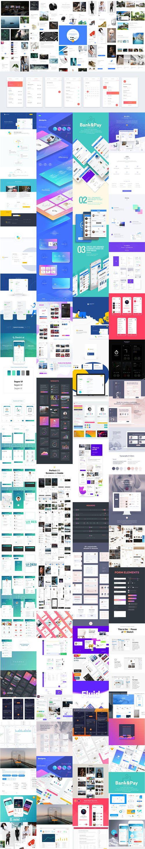 50+ Best UI Design Kits of 2017-2018