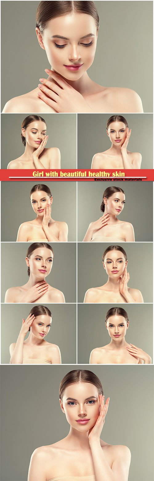 Girl with beautiful healthy skin