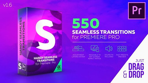 Handy Seamless Transitions V1.6 - Premiere Pro Templates (Videohive)