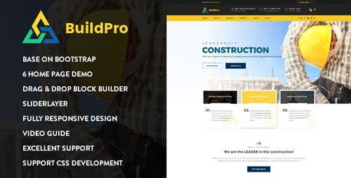 ThemeForest - BuildPro - Construction Drupal 8.6 Theme (Update: 11 September 18) - 19481212