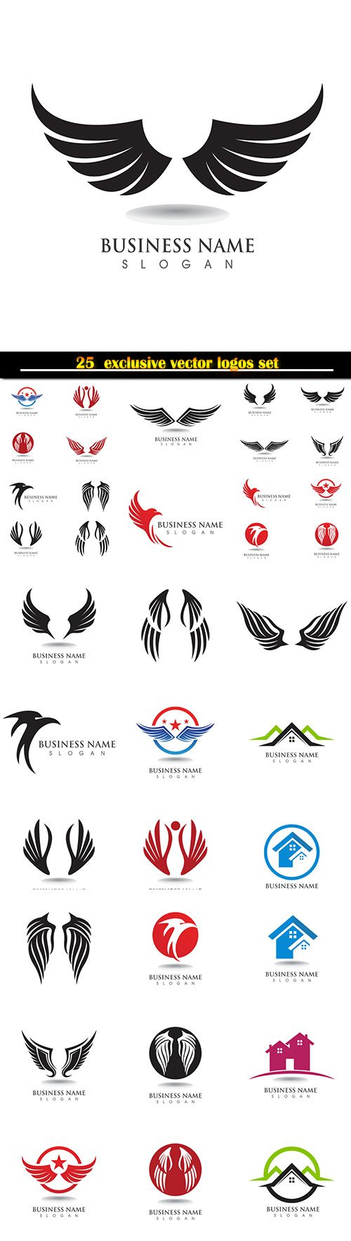 Logo business vector illustration template # 124