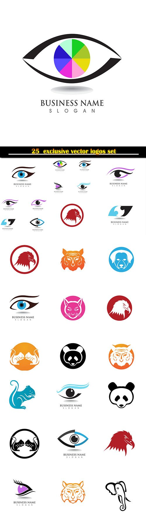 Logo business vector illustration template # 123