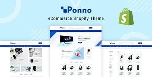 ThemeForest - Ponno v1.0 - Electronics eCommerce Shopify Theme + RTL + Dropshipping - 22583811