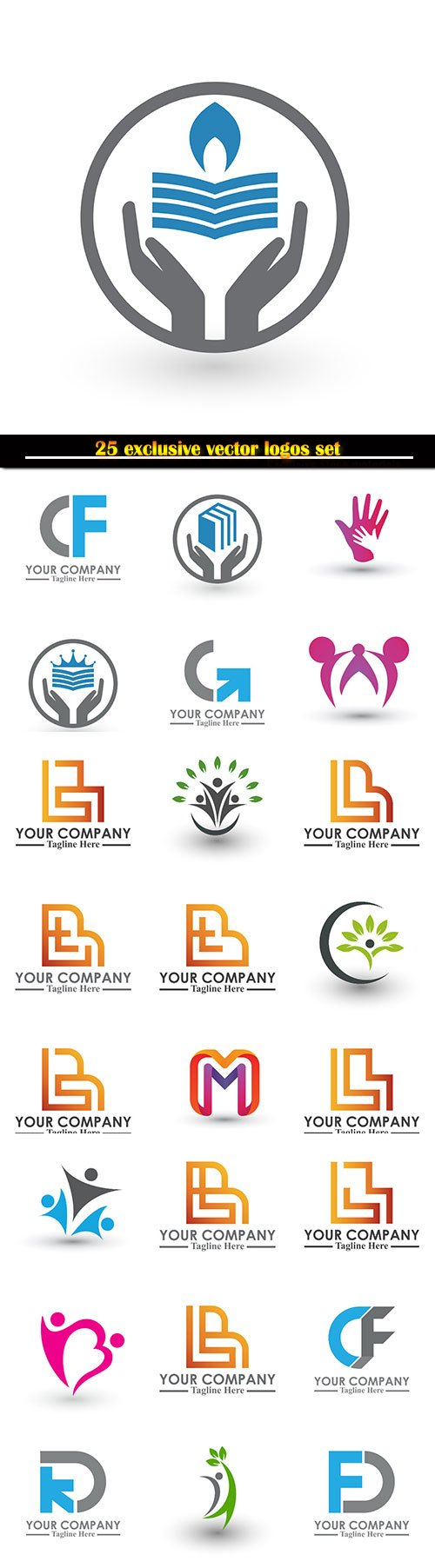 Logo business vector illustration template # 130