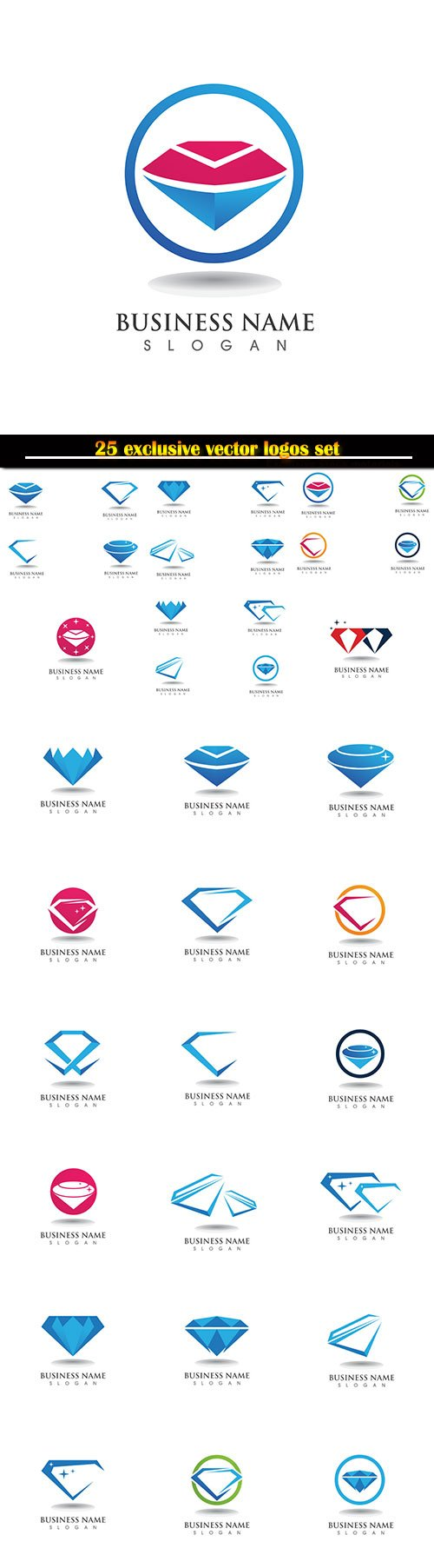 Logo business vector illustration template # 128