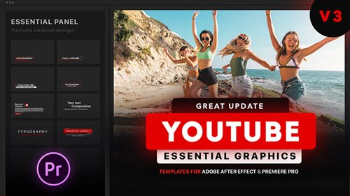 Youtube Essential Library | MOGRT for Premiere V3.2 - Project for After Effects & Premiere Pro Templates (Videohive)