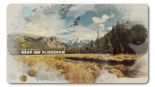 Drop Ink Slideshow - Project for After Effects (Videohive)