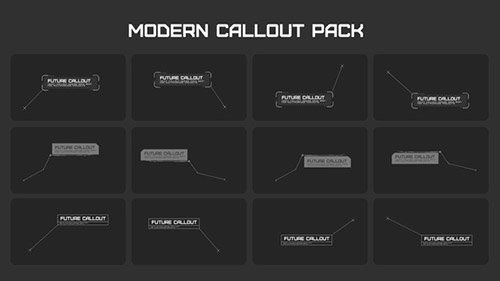 Modern Callout Packs - Project for After Effects (Videohive)