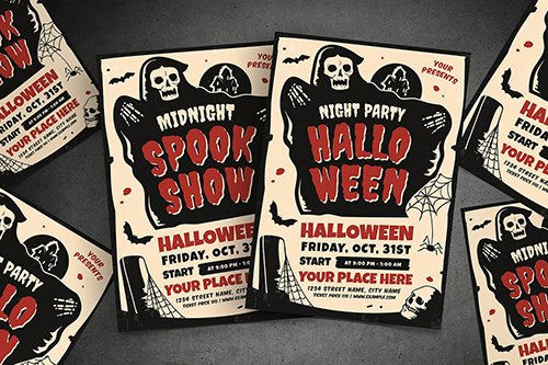 Halloween Party & Show Flyer