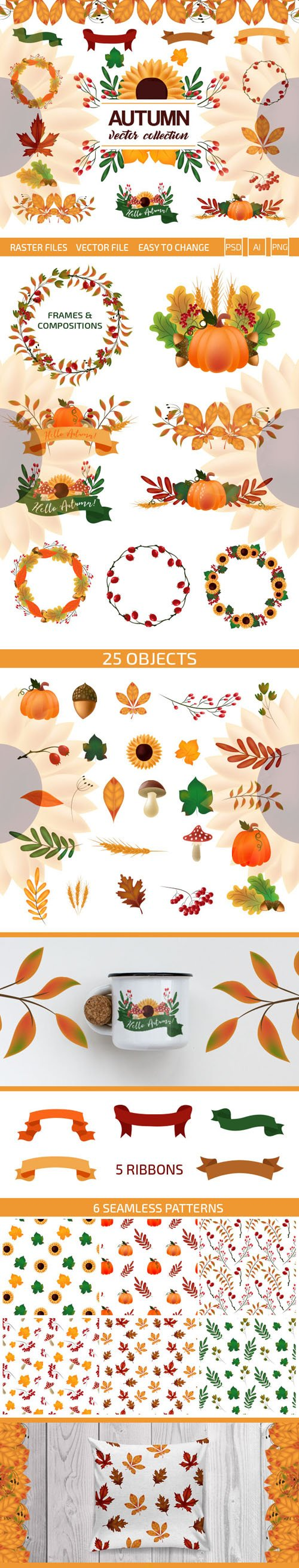 Autumn Vector Collection [Ai/PSD/PNG]