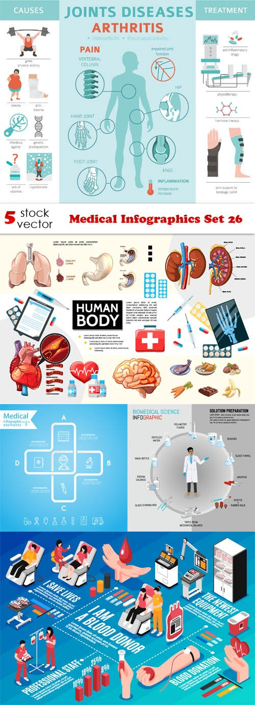 Vectors - Medical Infographics Set 26