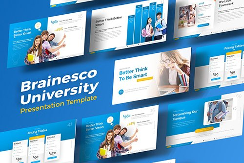 Brainesco Education PowerPoint Presentation Template