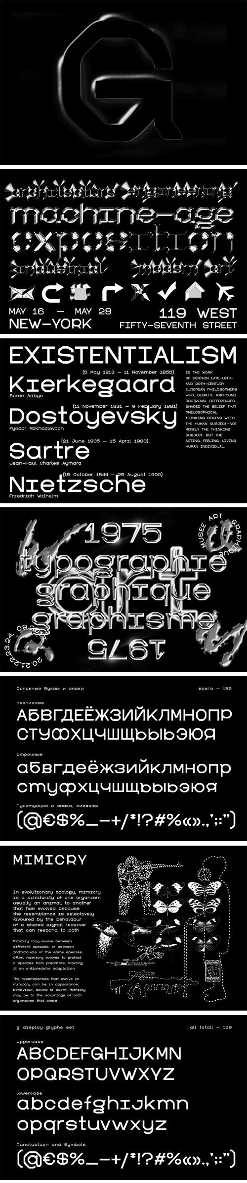 G Display Font Family