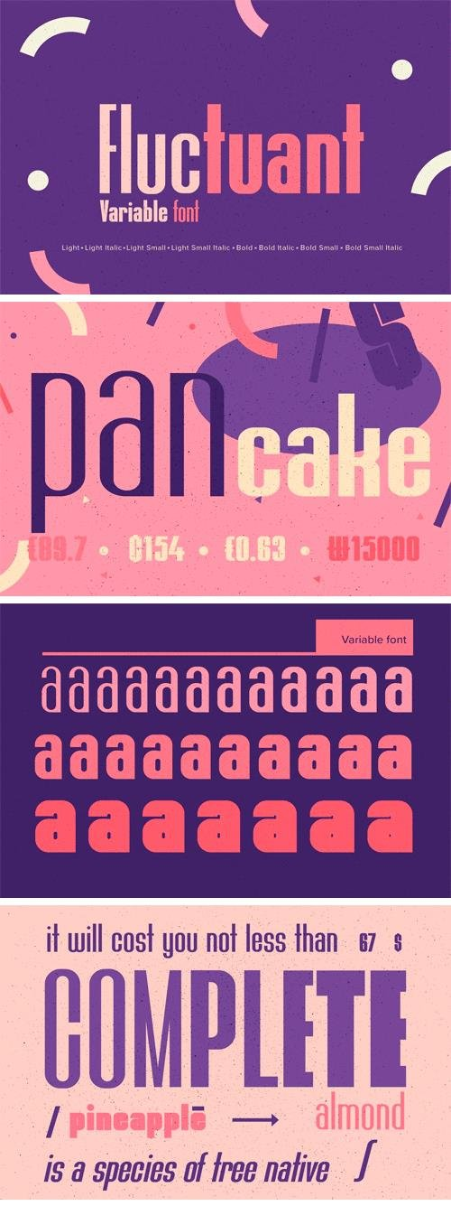 YWFT Fluctuant (Variable Font) Font Family