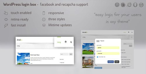 CodeCanyon - Login lightbox wordpress v1.0.0 - easy login / register with facebook, buddypress and recapcha support - 21509479