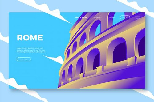 Rome - Banner & Landing Page