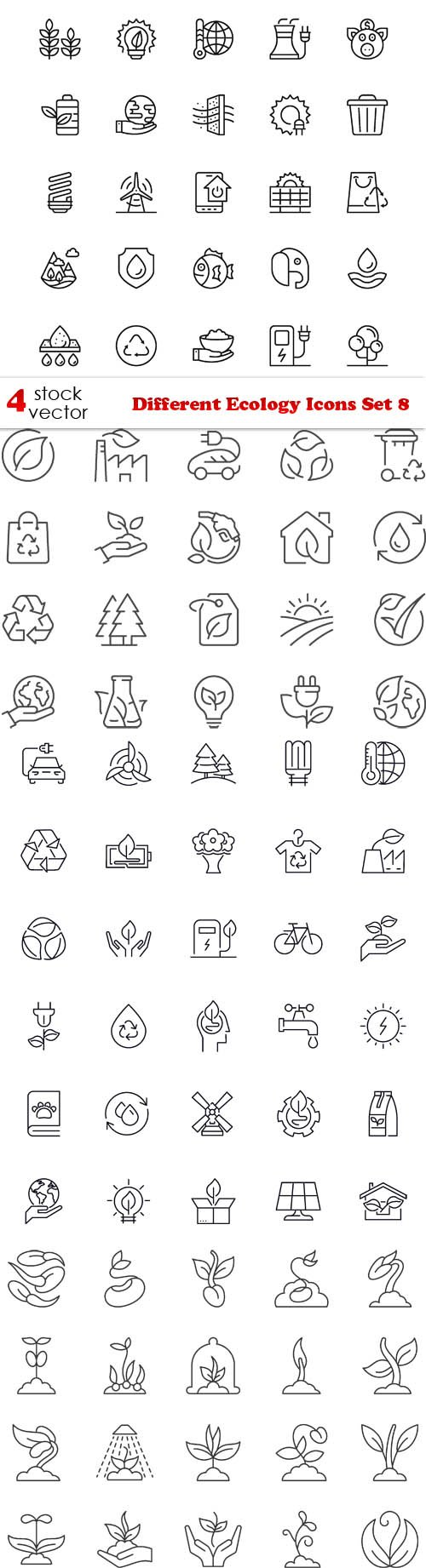 Vectors - Different Ecology Icons Set 8
