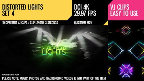 VJ Distorted Lights (4K Set 4) 18093589
