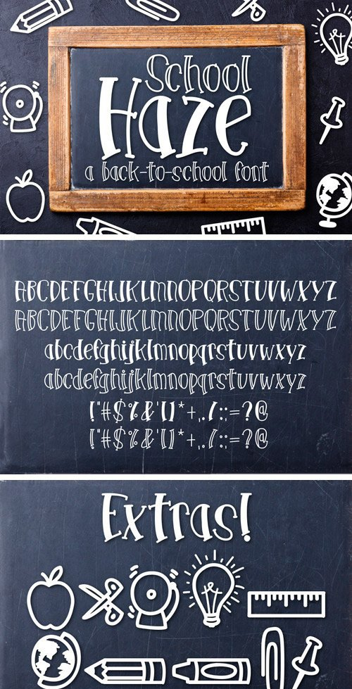 Fontbundles - School Haze a Back-to-School Font 25720