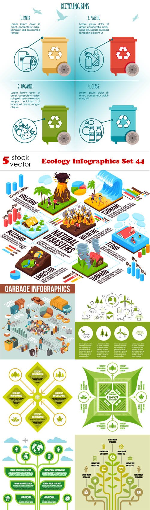 Vectors - Ecology Infographics Set 44