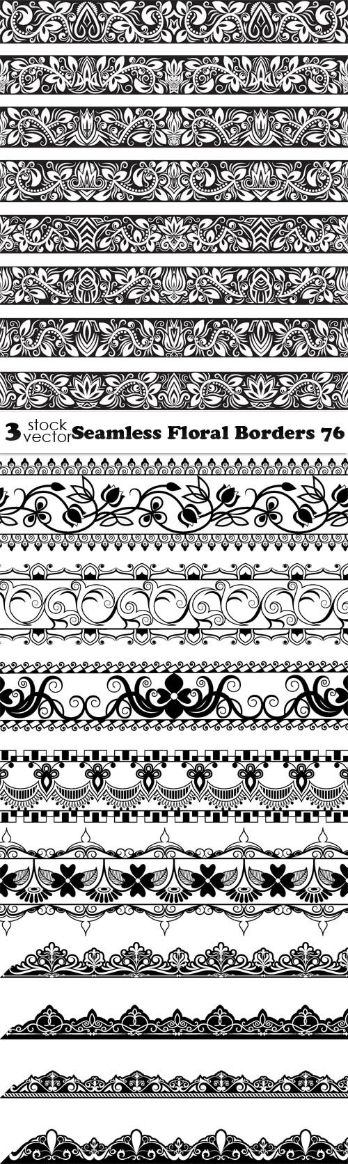 Vectors - Seamless Floral Borders 76
