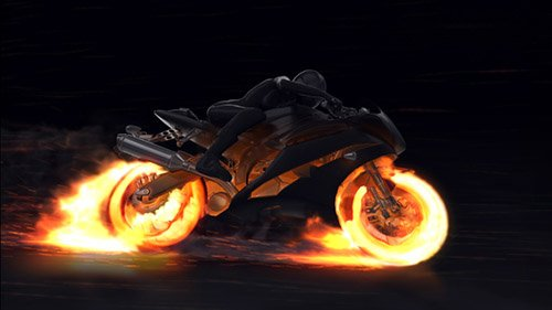 Motorcycle Fire Reveal - Project for After Effects (Videohive)