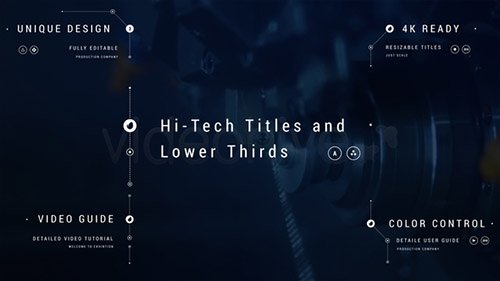 Hi-Tech Titles and Lower Thirds - Project for After Effects (Videohive)