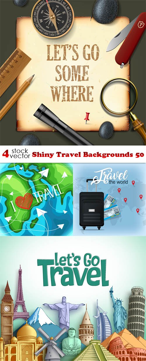 Vectors - Shiny Travel Backgrounds 50
