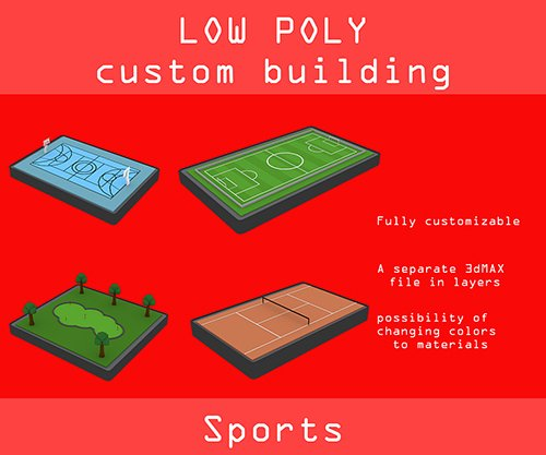Low poly Sports pack