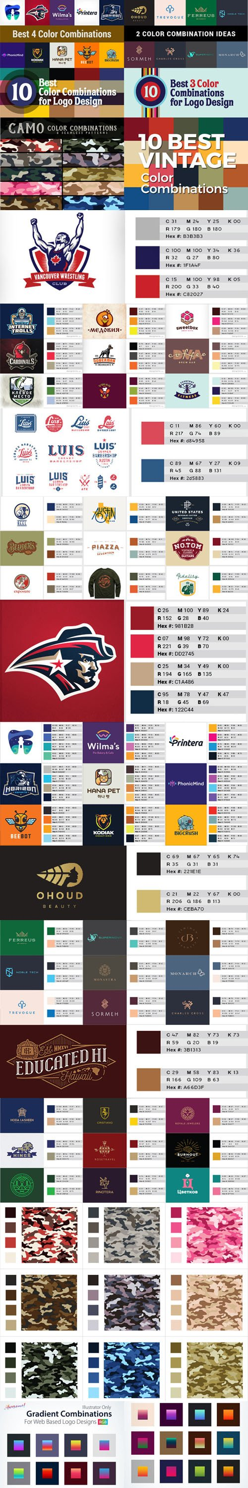 60 Best Color Combinations Ideas For Logo Design with Swatches [Ai/ASE]