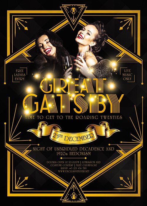 Great Gatsby Night - Club A5 Flyer Template