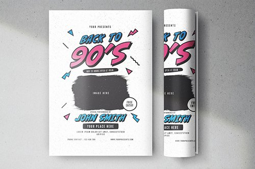 PSD Back to 90s Flyer