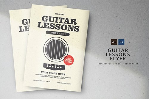 PSD Guitar Lessons Flyer