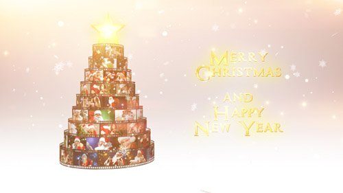 Merry Christmas Film Reel Wishes - Project for After Effects (Videohive)