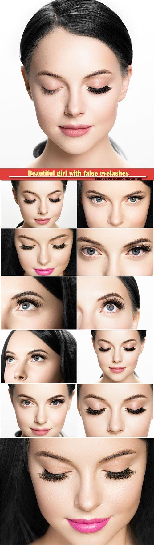 Beautiful girl with false eyelashes