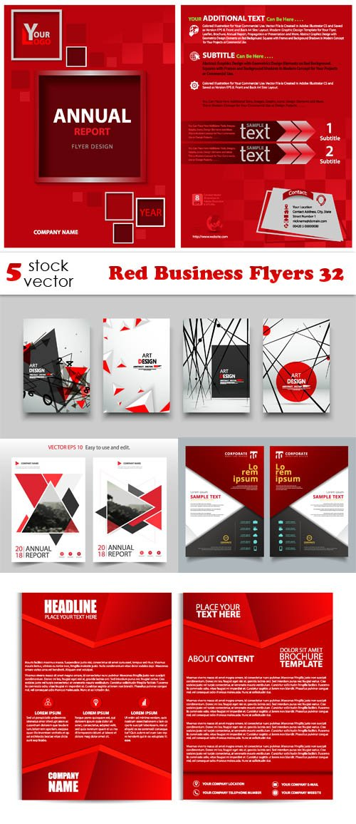 Vectors - Red Business Flyers 32
