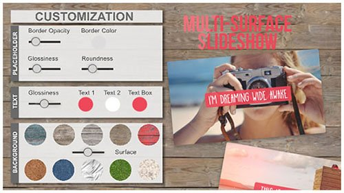 Multi-Surface SlideShow - Project for After Effects (Videohive)