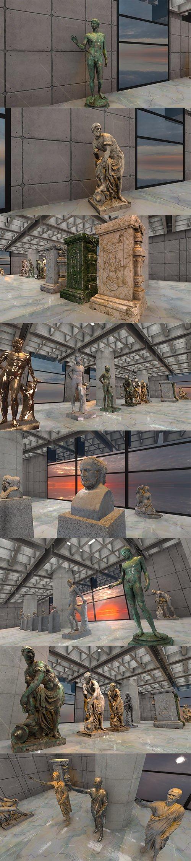 Greek - Roman Sculptures for Unity 3D
