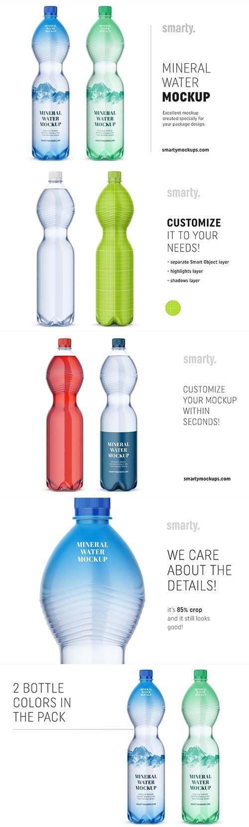 CreativeMarket - Mineral water bottle mockup 2956913