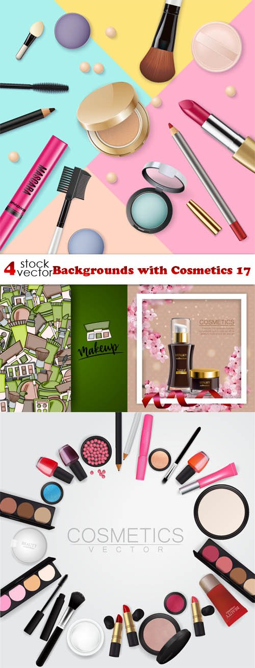 Vectors - Backgrounds with Cosmetics 17