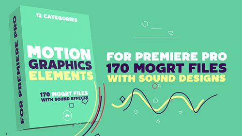 Motion Graphics Elements Pack | MOGRT for Premiere Pro Templates (Videohive)