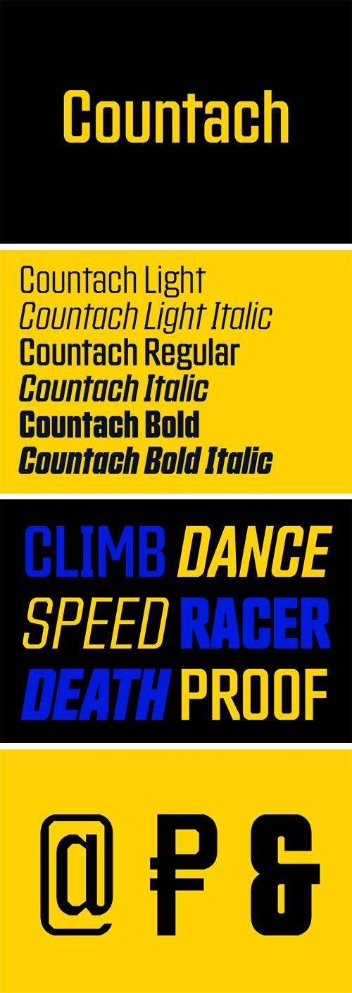 Countach Font Family