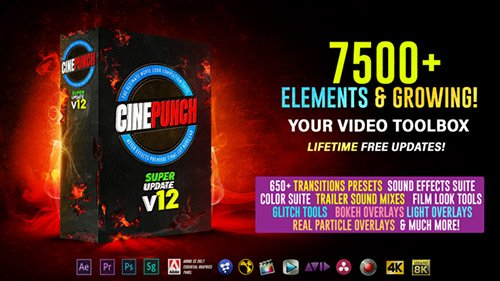 CINEPUNCH V12 - 7500+ Elements and Growing! - After Effects Add Ons & Project (Videohive)